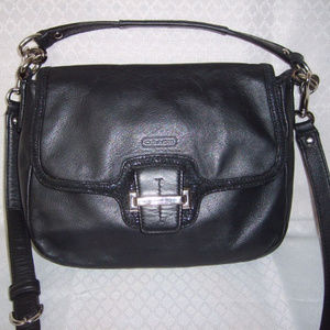 Coach Taylor Cross Body Bag Black Leather 25206